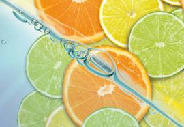 Fotobehang Food Fruits Lime Orange