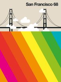 Fotowand San Francisco 68 by Bo Lundberg afm. 200cm x 270cm hoog