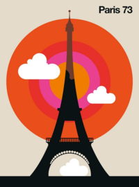 Fotowand Paris 73 by Bo Lundberg afm. 200cm x 270cm hoog