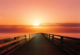 Fotobehang Ocean Pier Sunset