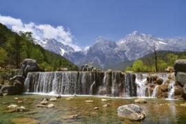 Fotobehang Waterval in de Alpen