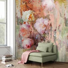 Colorful Florals&Retro fotobehang designed by INGK7290