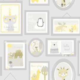 Over the Rainbow 90970 Animal Frames Grey Yellow