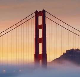 Fotobehang City Love CL40A San Francisco Golden Gate Bridge