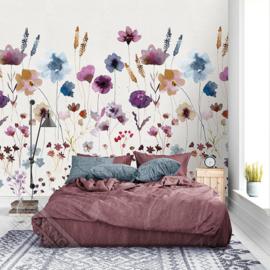 Colorful Florals&Retro fotobehang designed by INGK7286