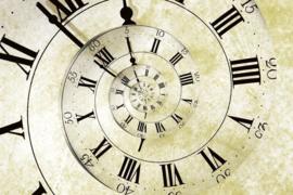 Fotobehang Spiraal klok