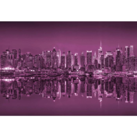 Fotobehang New York Reflections in Pink