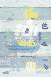 Eijffinger Wallpower Junior 364107 Pirates Ahoy Wood
