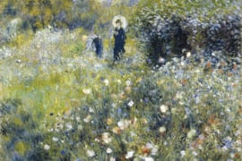 Fotobehang Vrouw in de tuin (Pierre Auguste Renoir)