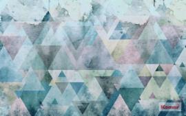 Komar Triangles blue P018A-VD4