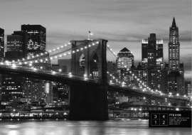 Fotobehang AG Design FTS0199 Brooklyn Bridge