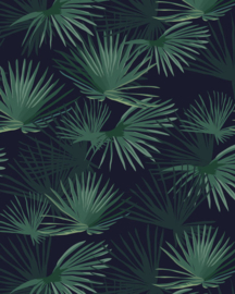 Creative Lab Wallpaper on roll Palm Leaves Dark Green