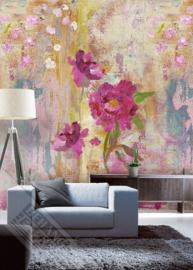 Colorful Florals&Retro fotobehang designed by INGK7314