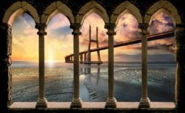 Fotobehang Uitzicht op de City bridge
