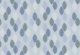 Fotobehang Blauw bladeren patroon