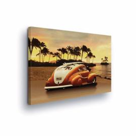 Canvasdoek Beach Car