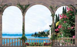 Fotobehang Uitzicht op het Meer van Como