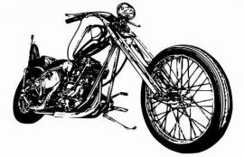 Little Ones fotobehang 419026 Cool Motorbike