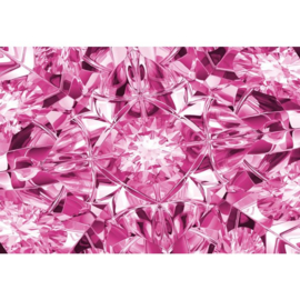 Fotobehang Facets of Luxury in Pink