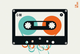 Fotowand Mixtape by Bo Lundberg afm. 400cm x 270cm hoog