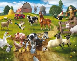 Walltastic posterbehang 41806 Farmyard Fun