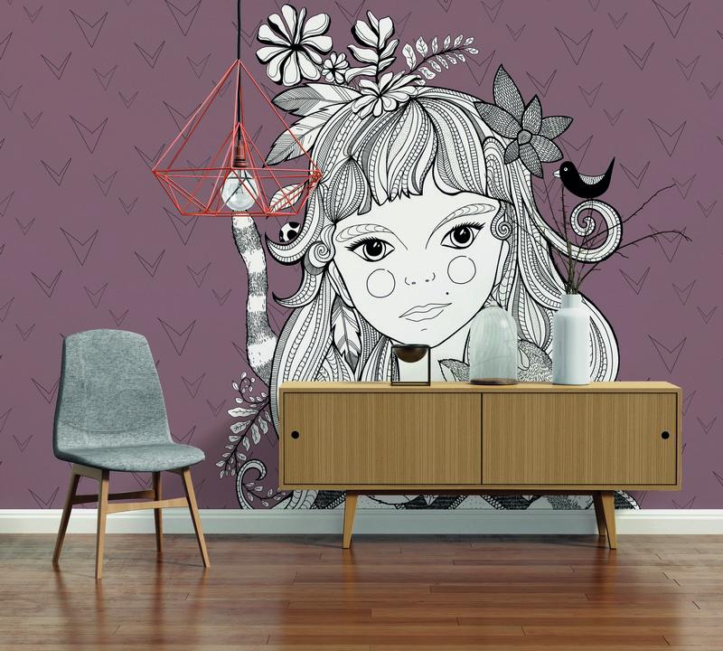 Fotowand Catgirl 2 by Sabrina Ziegenhorn afm. 400cm x 270cm hoog