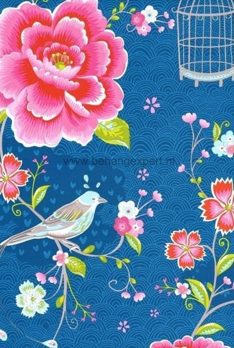 Eijffinger Pip Studio behang 313015 Birds in Paradise Blauw