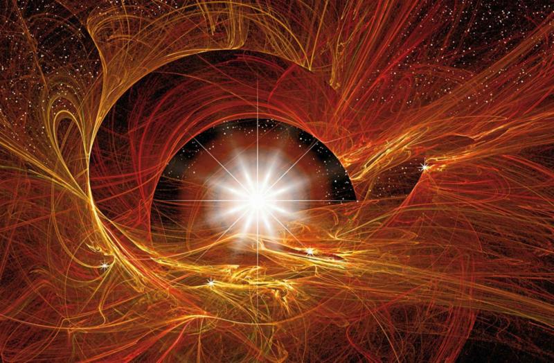 Fotobehang Licht in het Heelal Abstract