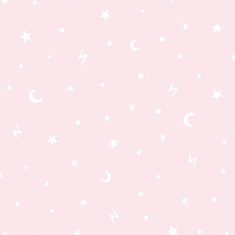 Over the Rainbow 90981 Stars and Moons Pink