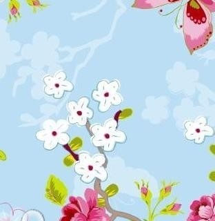 Eijffinger Pip Studio behang  386031 Chinese Rose Blauw