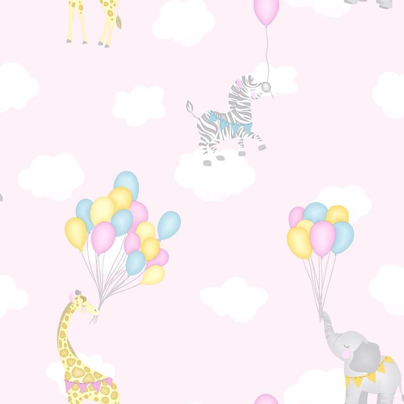 Over the Rainbow 91040 Animal Balloons Pink