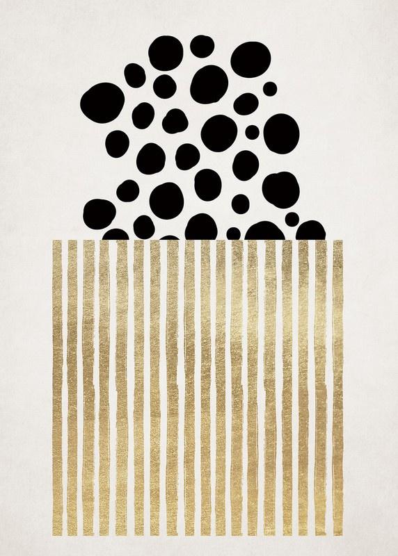 Fotowand Golden Popcorn by Kubistika afm. 200cm x 280cm hoog