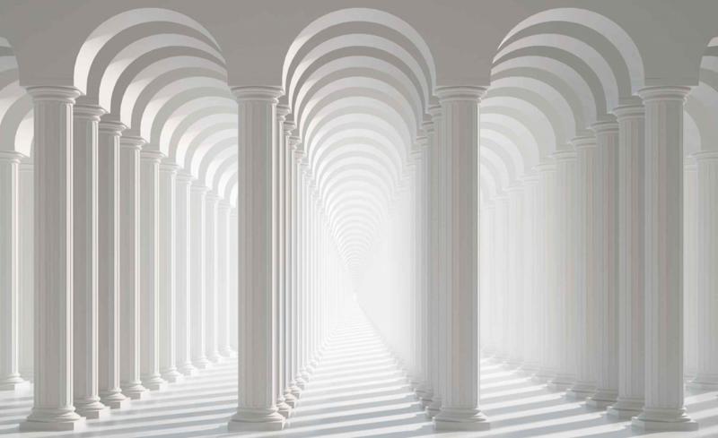 Fotobehang Abstract passage