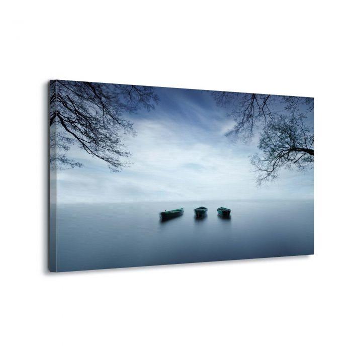 Canvasdoek Uitzicht op het meer