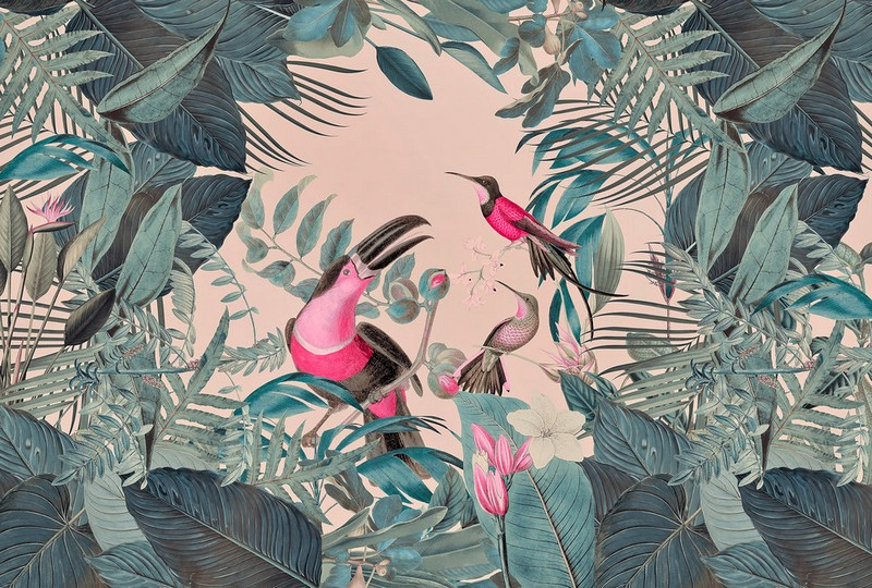 Fotowand Toucans Paradise by Andrea Haase afm. 400cm x 270cm hoog
