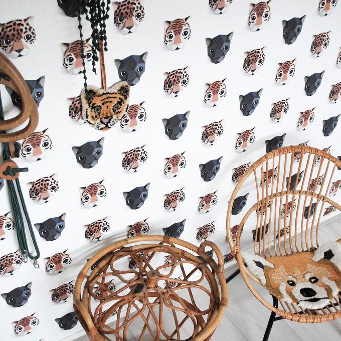 Studio Ditte Panthera behang wit