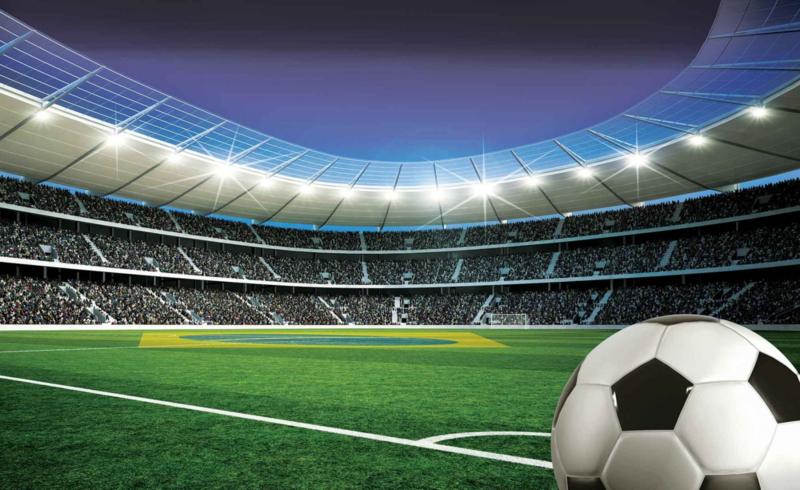 Fotobehang Voetbal in Stadion
