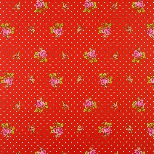 Eijffinger Pip Studio behang  386023 Roses and Dots Rood