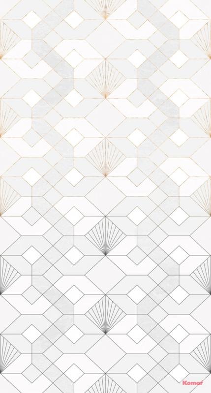 Komar Heritage HX3-008 Coquilles blanches Jugendstil fotobehang