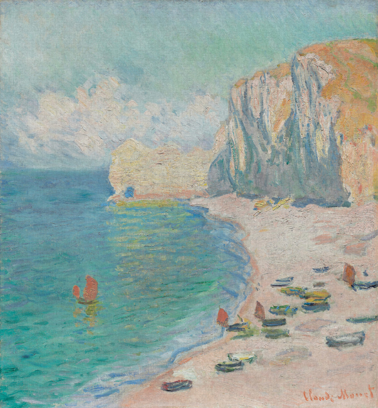 Dutch Painted Memories 8074 The beach and the Falaise d'Amont