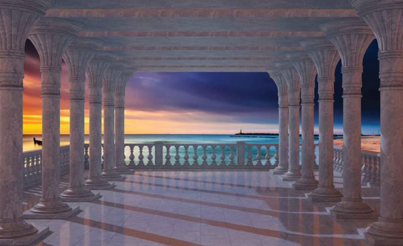 Fotobehang Uitzicht over de Zee