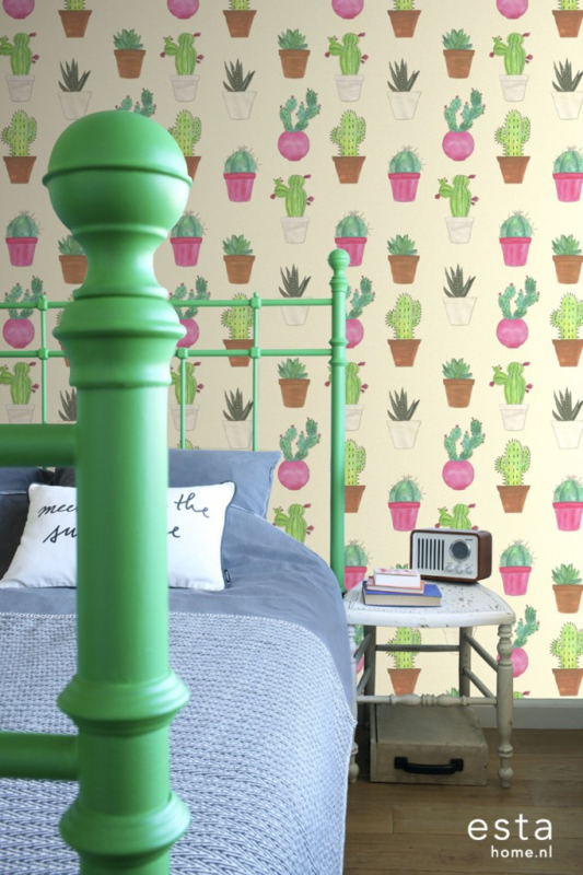 Esta Cabana  158604 XXL behang cactus fiesta