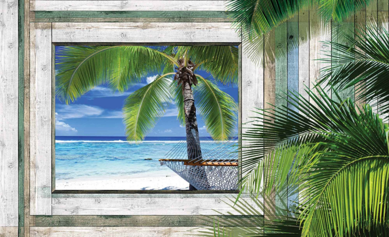 Fotobehang Uitzicht op het Tropisch Strand