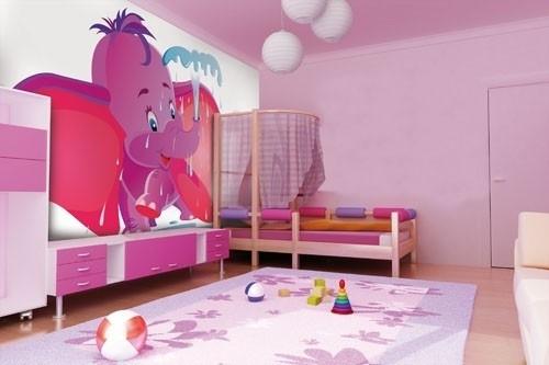 Little Ones fotobehang 4180039 Purple Dumbo
