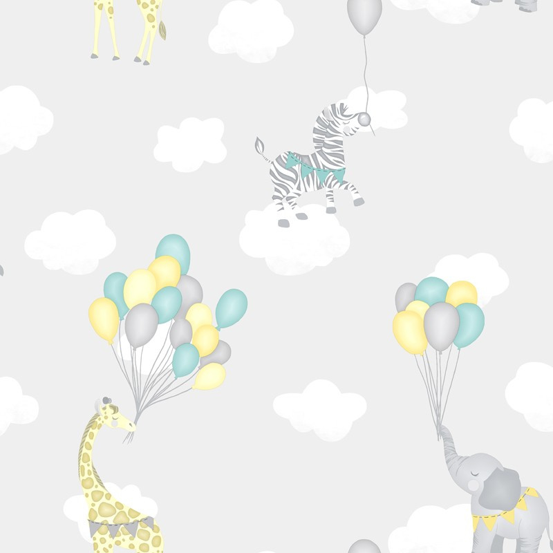Over the Rainbow 91041 Animal Balloons Grey