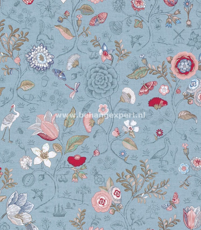 Eijffinger PiP Studio behang 375005 Spring to Life Lichtblauw