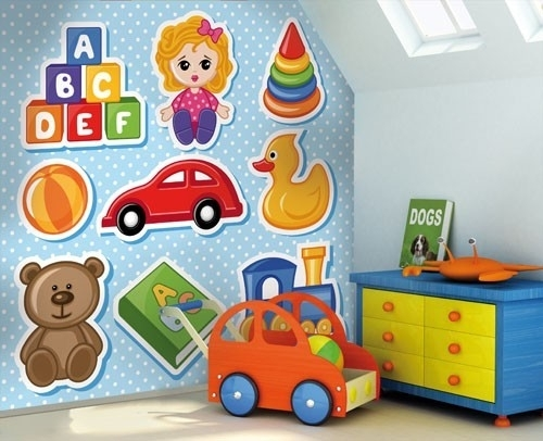 Little Ones fotobehang 416005 Toy Shop