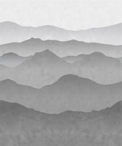 Esta Black&White 158939 photowall XL gradient mountains