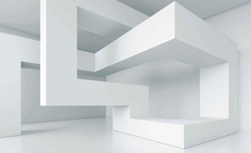 Fotobehang Abstract art white