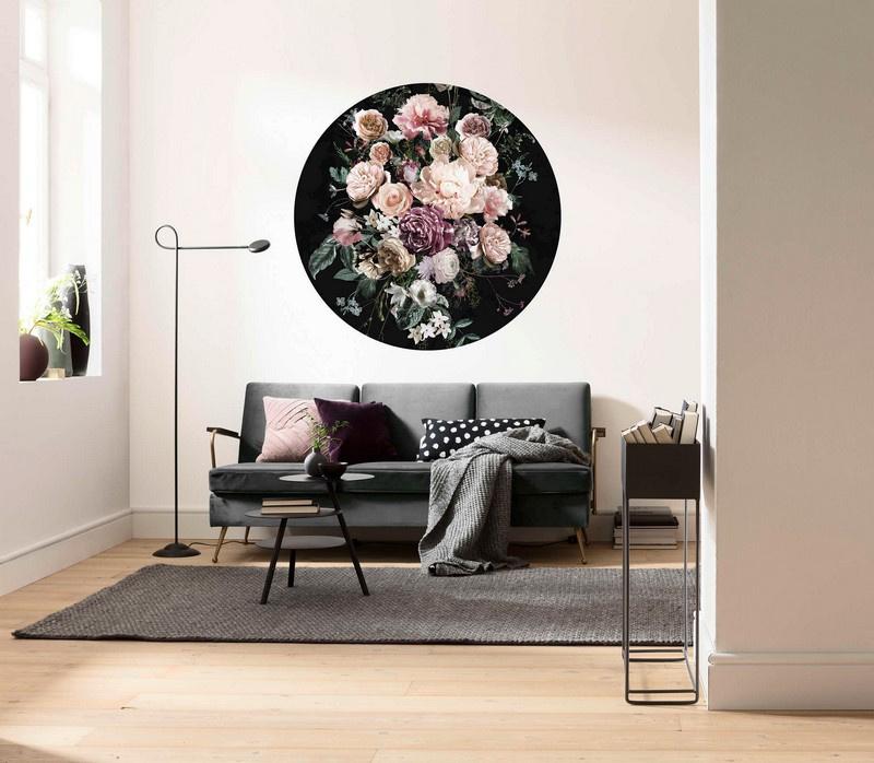 Komar D1-030 Enchanted Flowers behangcirkel zelfklevend 125cm